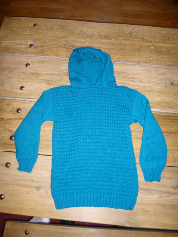 "Teal Hooded Jumper 26""-28"" chest"