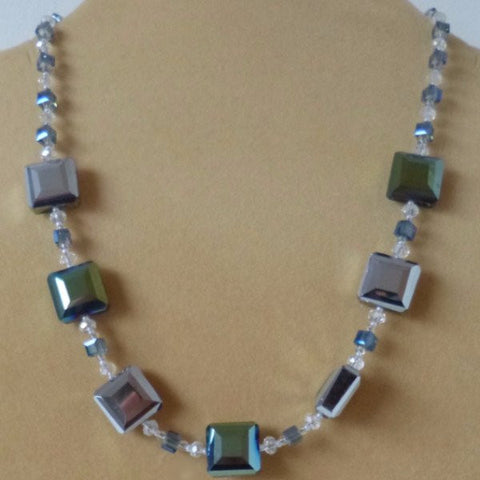 Grey Crystal Necklace