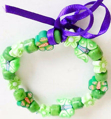 Bracelet Plastic Small Green Butterflies