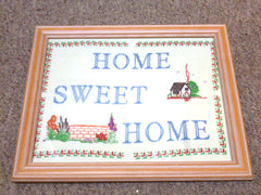'Home From Home' Cross Stitched Picture