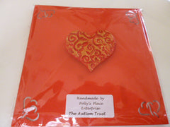 Red and Gold Heart Magnet