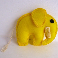 Plaything Fabric Elephant Yellow