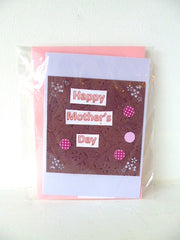 Happy Mothers Day Card Pink Circle