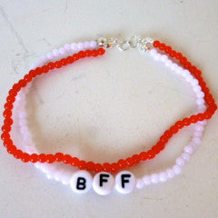 Bracelet Bead BFF Red White