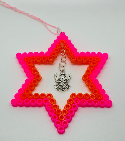 Hama Bead Star with Angel Decoration