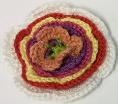 Flower Badge Multi-colour