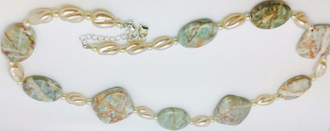 Green Jasper Glass Necklace