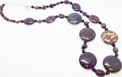 Red Jasper Glass Necklace (W344)
