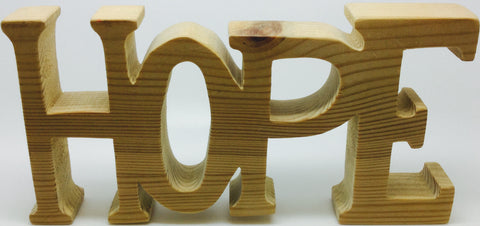 Natural Wooden Carving 'Hope'