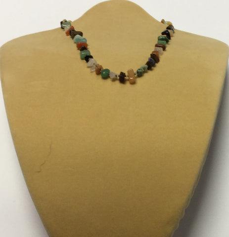 Earth Tone Tourmaline Chips Necklace