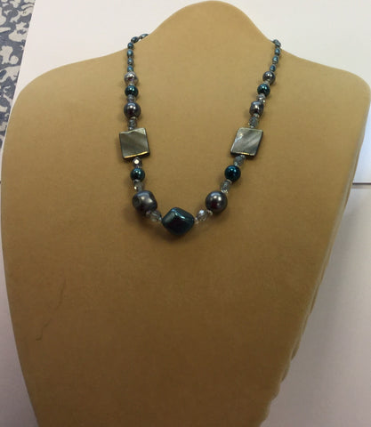 Smoky Pearl Necklace