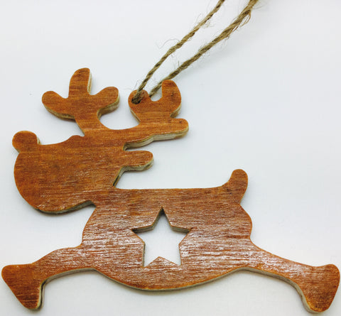 Natural Wooden Christmas Hanging Decorations