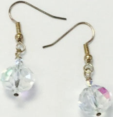 Clear Crystal Silver Plate Earrings