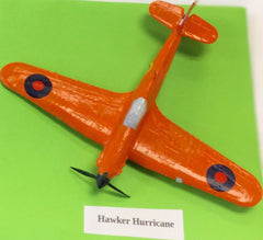 Aeroplane Model Hawker Hurricane Orange