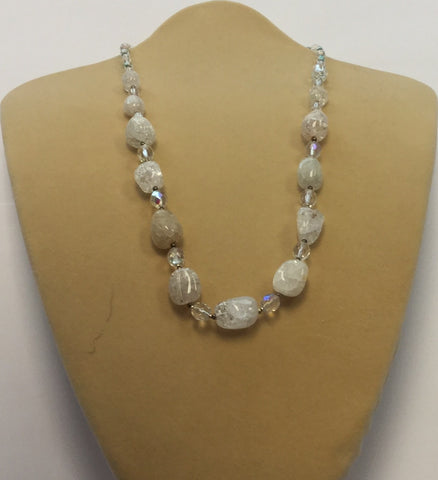 Pastel Crackle Crystal Necklace
