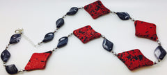 Red Acrylic Glass Necklace (A22)