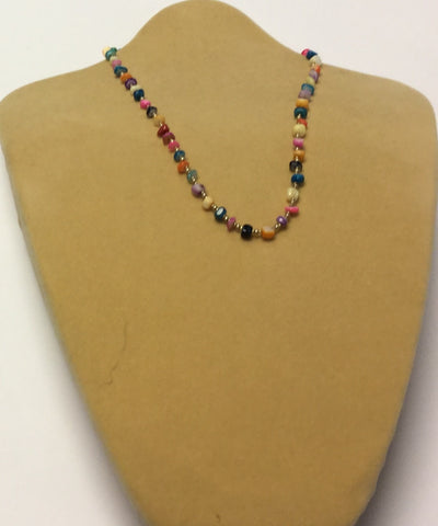 Rainbow Shell Chips Necklace