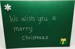 Card Envelope Christmas Colour Green