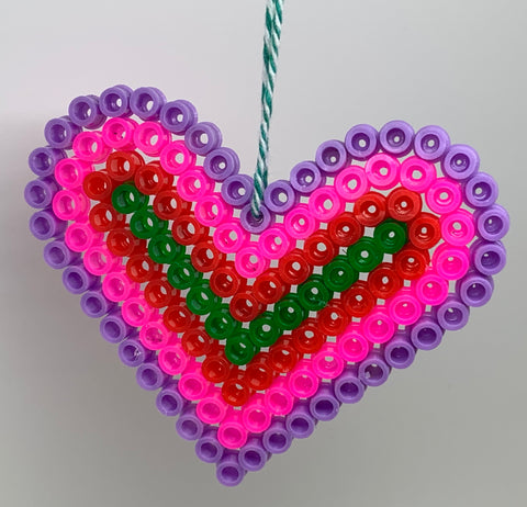 Hama Bead Heart Decoration
