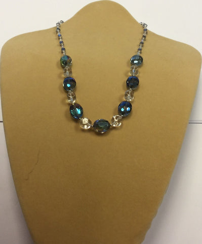 Turquoise Clear Premium Crystal Necklace