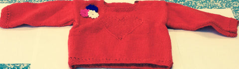 Girl Red Heart Jumper