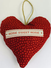 Heart Fabric Hang Red Lavender