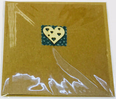 Card Happy Birthday Heart Fabric