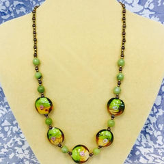Green Glass Jade Necklace