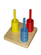 Coloured discs on 3 dowels 129566535