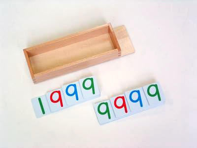 Wooden Box w Lid for large plastic number cards 129568479