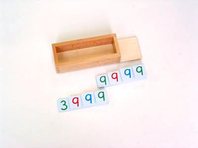 Wooden Box w Lid for small plastic number cards 129568481
