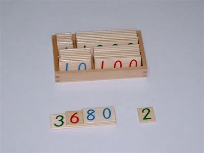 Small Wooden Number Cards 9000 129567963