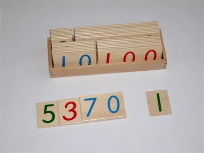 Large Wooden Number Cards 9000 129567287