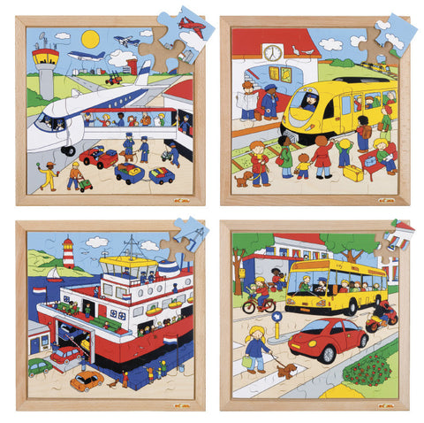 E522071   Transport puzzles - Complete set of 4 656247172