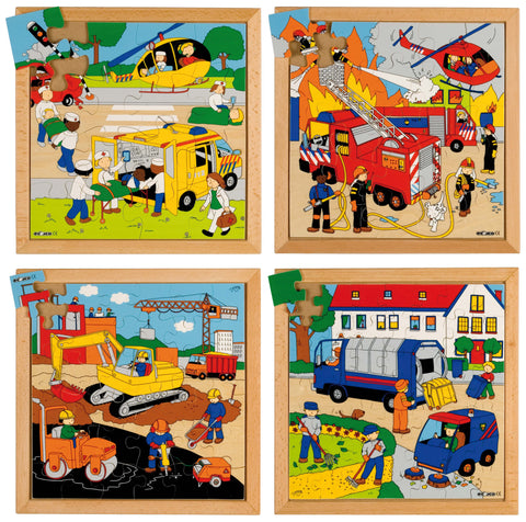 E522076   Street action puzzles - Complete set of 4 656247556