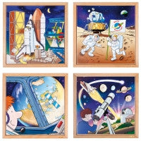 E523228   Astronautics puzzles - Complete set of 4 656255428