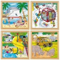 E523271   Holiday puzzles - Complete set of 4 656257220