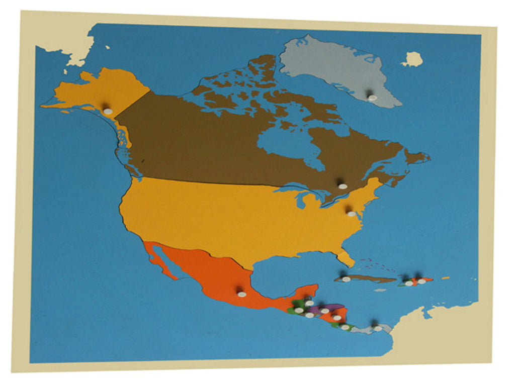 Puzzle map of North America standard size 129567759