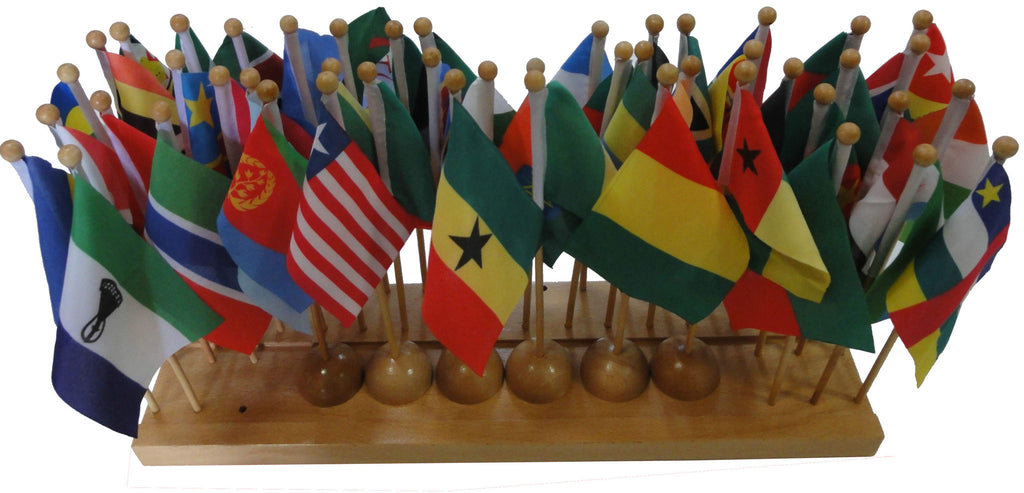 Flag stand of Africa with 48 flags 129566863