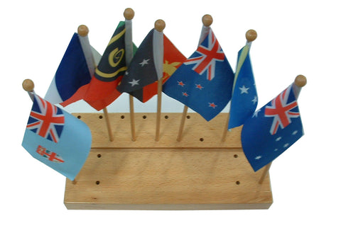 Flag stand of Australia with 7 flags 129566867