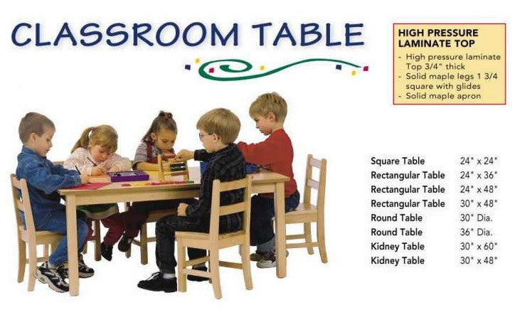 "Classroom table 24"" by 24"" square 373433956"