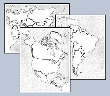 World and Continent Map Replicards 129568545