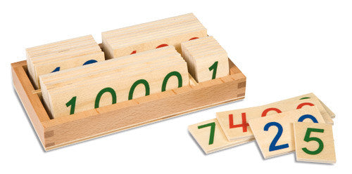 Wooden Number Cards: Small 1-9000 572053316