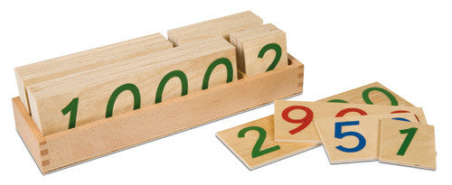 Wooden Number Cards: Large 1-9000 572053252