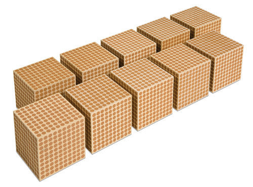 Wooden Cube Of 1000: Set Of 10 572052612