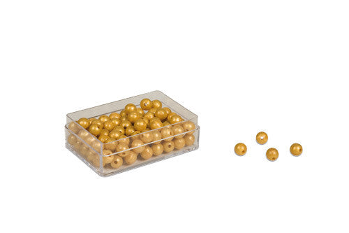 100 Golden Bead Units - Individual Beads Nylon (with hole) 572052356