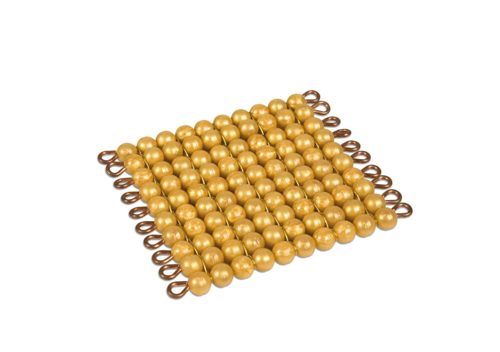 One Golden Bead Square Of 100 - Individual Beads Nylon 572052100