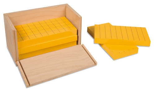 Five Yellow Prisms In Wooden Box 572063172