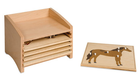 Animal Puzzle Cabinet: Five Compartments 590493380