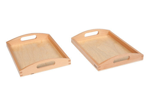 Wooden Tray Small: Set Of 2 551172676
